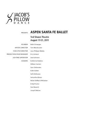 Aspen Santa Fe Ballet Program 2011