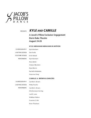 Kyle and Camille Program 2011