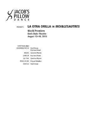 La Otra Orilla Performance Program 2015