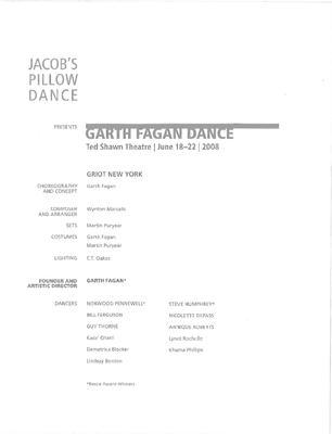 Garth Fagan Dance Performance Program 2008