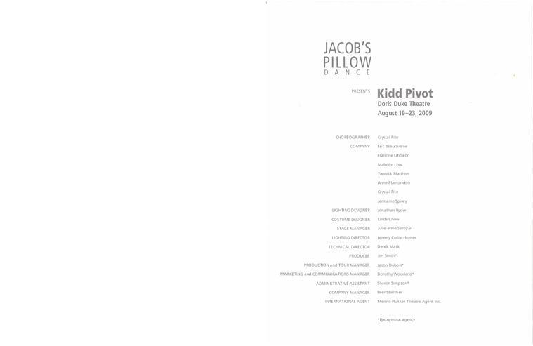 Kidd Pivot 2009