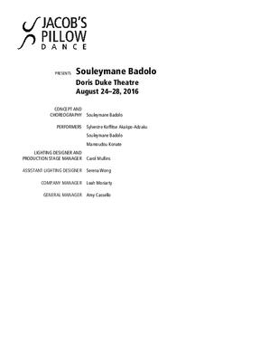 Souleymane Badolo Program 2016