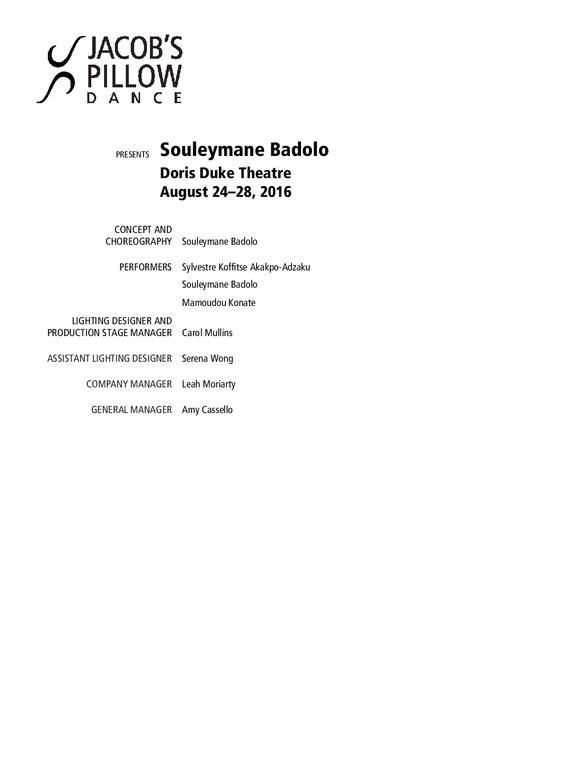 Souleymane Badolo Program 2016