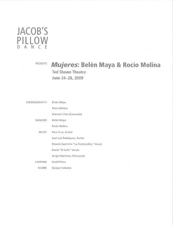 Mujeres Program 2009