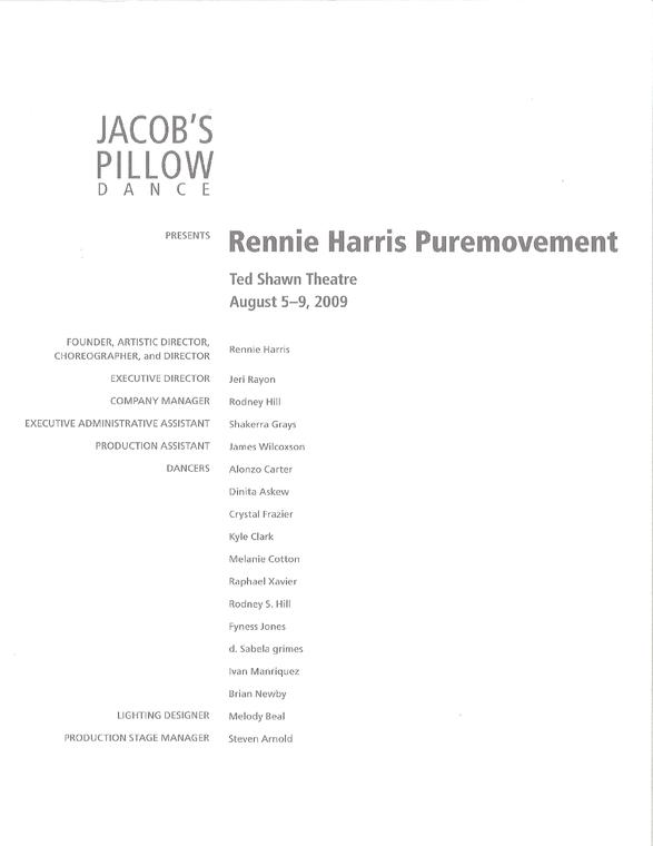 Rennie Harris Puremovement Program 2009