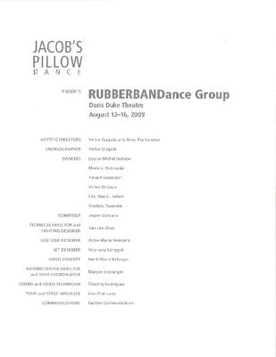 RUBBERBANDance Group Program 2009
