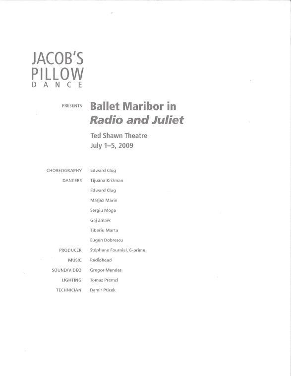 Ballet Maribor Program 2009