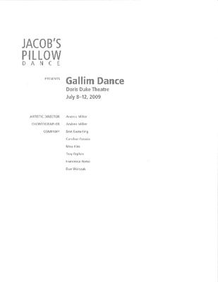 Gallim Dance Program 2009