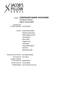 COMPAGNIE MARIE CHOUINARD Program 2017