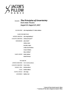 The Principles of Uncertainty Program 2017