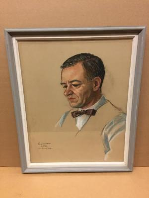 Larry Humphries, pastel by John Edward Phelps