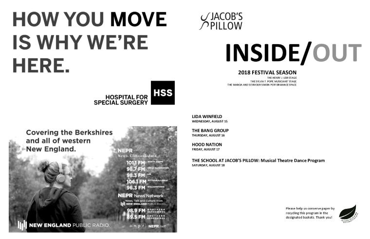 Inside/Out Performance Program Week 9 2018
