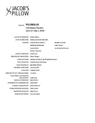 Pilobolus Program 2018