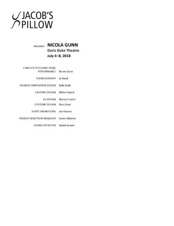 Nicola Gunn Program 2018