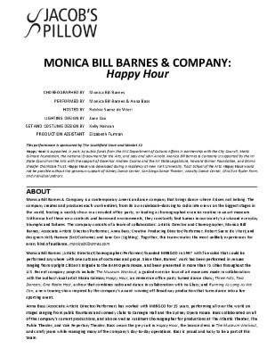 Monica Bill Barnes & Company Program 2018