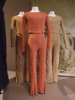 Earth Colored Jump Suits and Matching Long Sleeved Tops, Dance of the Ages, Earth Movement (six sets and three tops)