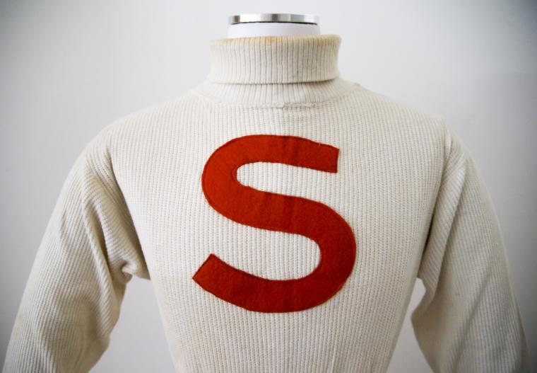 Cream Cotton Sweaters with an Orange S, Olympiad (set of eight)