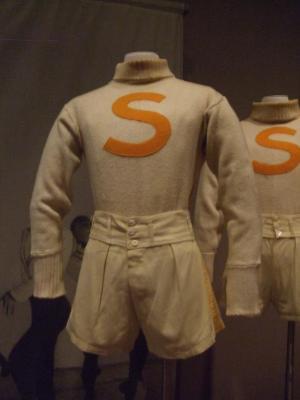Cream Wool Sweaters with an Orange S, Olympiad, Basketball Dance (set of nine)