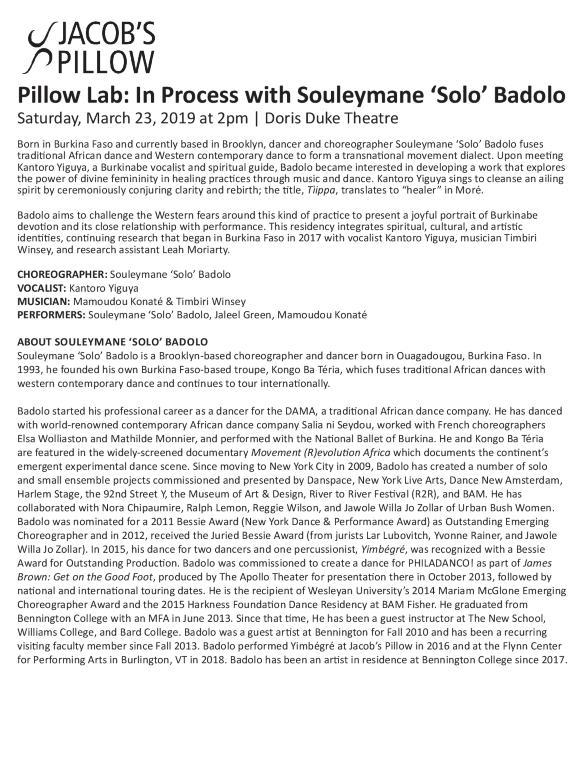 Souleymane 'Solo' Badolo Program 2019
