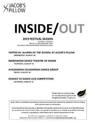 Inside/Out Performance Program Week 9 2019