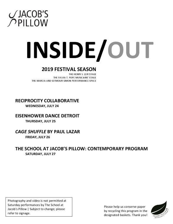 Inside/Out Performance Program Week 6 2019