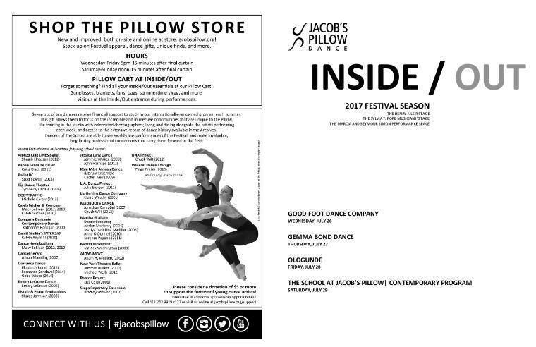 Inside/Out Performance Program Week 6 2017