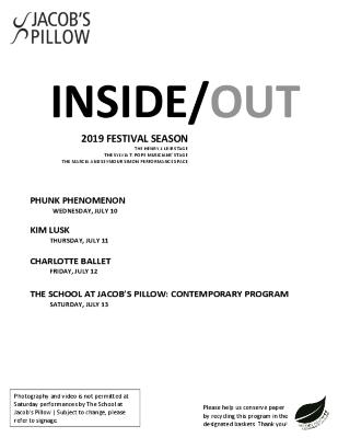 Inside/Out Performance Program Week 4 2019