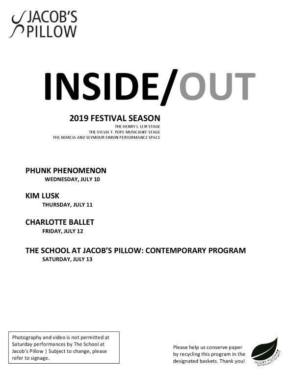 Inside/Out Performance Program Week 4 2019
