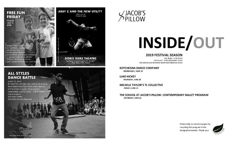 Inside/Out Performance Program Week 1 2019
