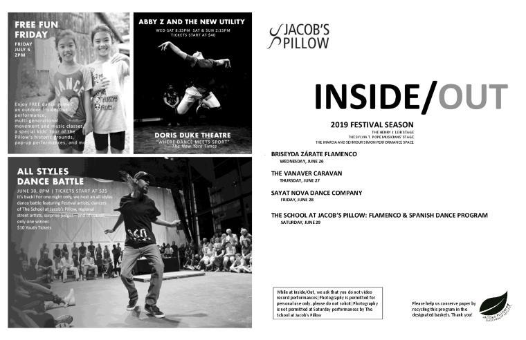 Inside/Out Performance Program Week 2 2019