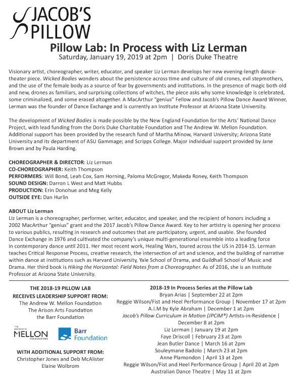 Liz Lerman Program 2019