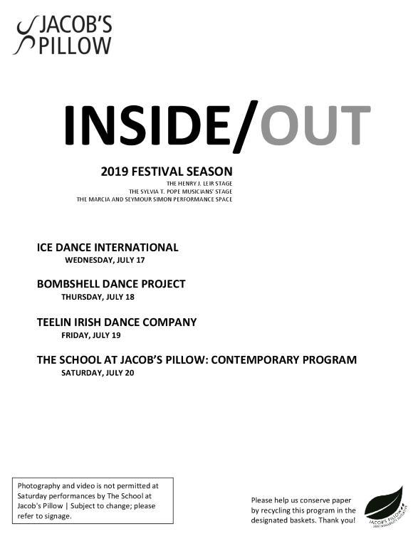 Inside/Out Performance Program Week 5 2019