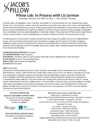 Liz Lerman Program 2019