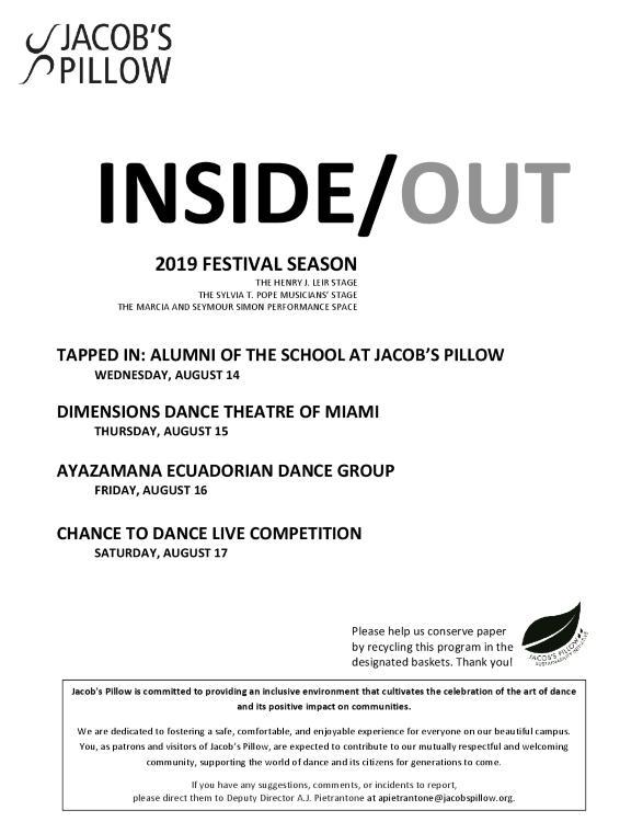 Inside/Out Performance Program Week 9 2019