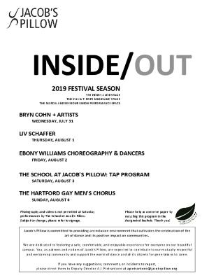 Inside/Out Performance Program Week 7 2019