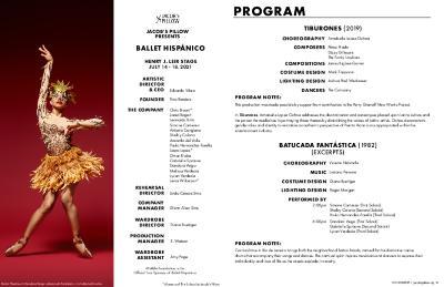 Ballet Hispánico Program 2021