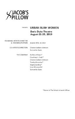 Urban Bush Women Program 2019