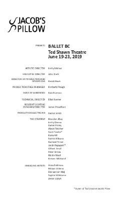 Ballet BC Program 2019