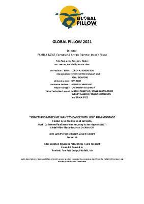 Global Pillow Program 2021