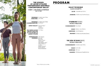 Inside/Out Performance Program Contemporary Ballet 2021