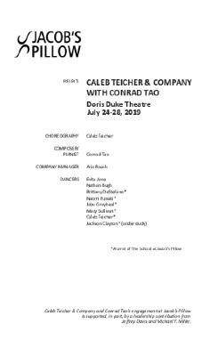 Caleb Teicher & Company with Conrad Tao Program 2019