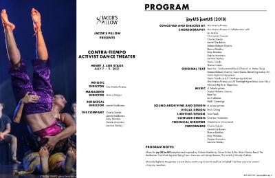 CONTRA-TIEMPO Activist Dance Theater Program 2021