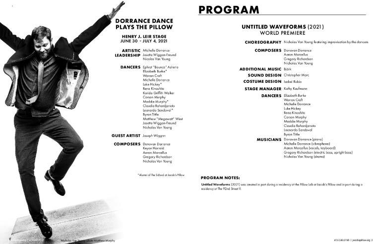 Dorrance Dance Program 2021