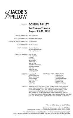 Boston Ballet Program 2019
